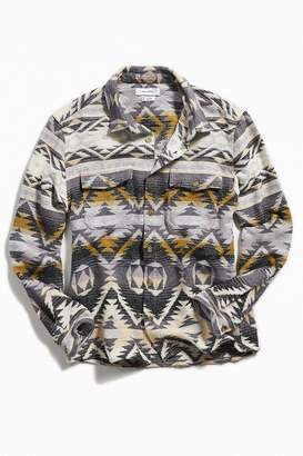 Urban Outfitters Southwestern Jacquard Flannel Shirt