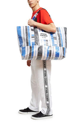 Opening Ceremony Large Striped Tote Large