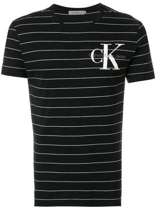 Calvin Klein Jeans striped logo T-shirt