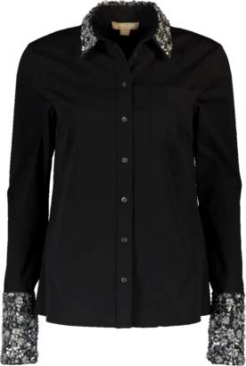 Michael Kors Embroidered French Cuff Shirt