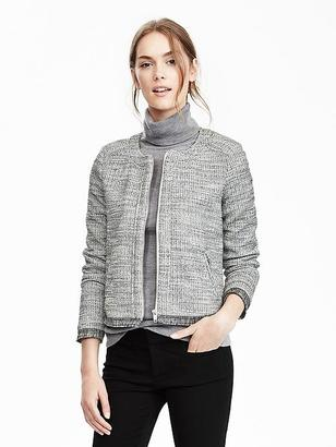 Long-Sleeve Boucle Jacket $98 thestylecure.com