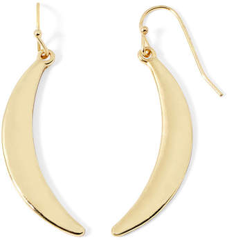 Liz Claiborne Gold-Tone Crescent Drop Earrings
