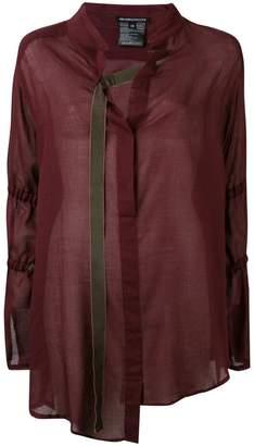 Ann Demeulemeester asymmetric buckle strap shirt