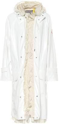 Simone Rocha Moncler Genius 4 MONCLER ruffled vinyl raincoat
