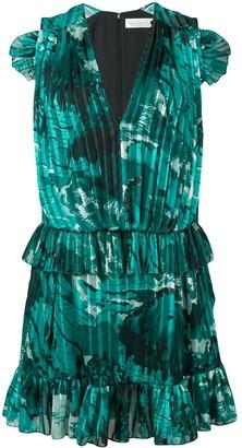 Victoria Victoria Beckham ruffle trim pleated dress