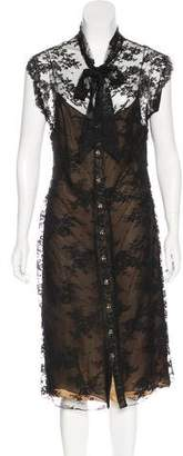 Azzaro Sleeveless Lace Dress