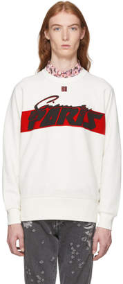 Givenchy Off-White Motocross Print Sweatshirt