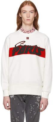 Givenchy Off-White Motocross Print Sweatshirt