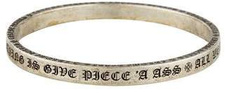 Chrome Hearts Script Bangle