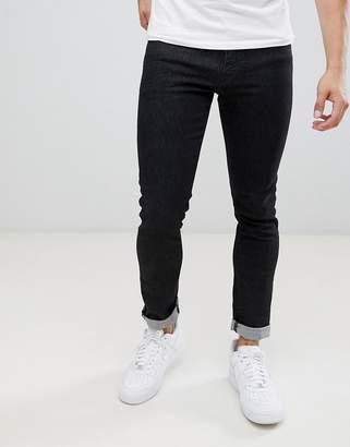 Armani Exchange J14 skinny fit 5 pocket stretch jeans in washed black