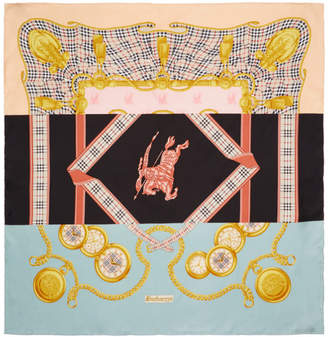 Burberry Multicolor Silk Scarf