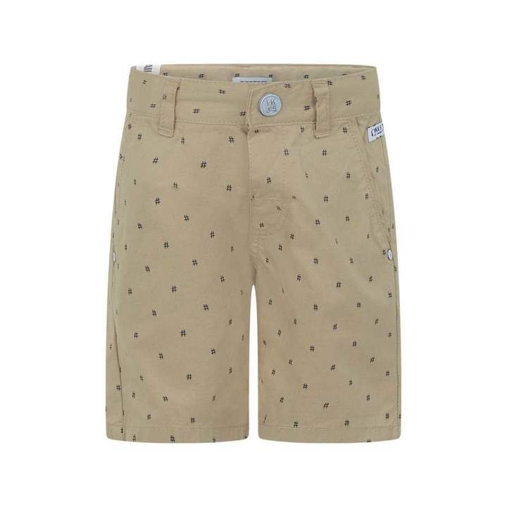 IKKSBaby Boys Beige Patterned Shorts