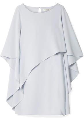 Halston Layered Crepe Mini Dress - Sky blue