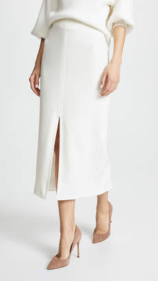 Yigal Azrouel Cream Suiting Slit Skirt