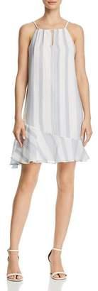 Aqua Striped Voile Shift Dress - 100% Exclusive