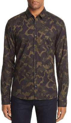 HUGO Ero Camo Extra Slim Fit Button-Down Shirt