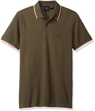 Armani Exchange A|X Men's Short Sleeve Jersey Knit Polo
