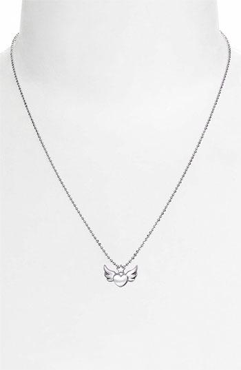 Alex Woo 'Little Rock Star' Heart & Wings Pendant Necklace