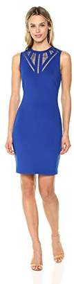 GUESS Women's Scuba Dress a Fun Neckline Detail