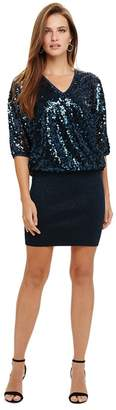 Phase Eight Blue Becca Sequin Bodice Dress