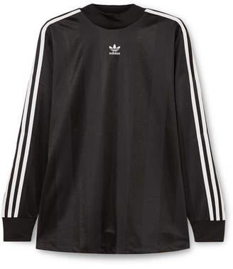 adidas Striped Satin-jersey Top