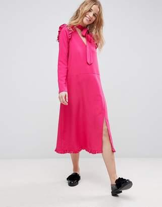 Asos Midi Dress with Ruffle Hem