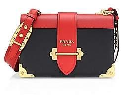 Prada Women's Large Cahier Leather Crossbody Bag