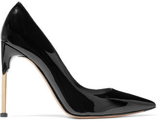 Alexander McQueen Patent-leather Pumps - Black