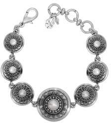 Lucky Brand 10 MM Freshwater Pearl Silvertone Link Bracelet
