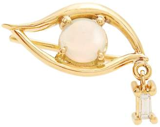 Ileana Makri Diamond, opal & yellow-gold single earring