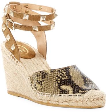 AshAsh Winona Studded Espadrille Wedge Sandal