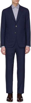 Isaia 'Cortina' micro check wool suit