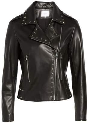 Parker Easton Studded Leather Moto Jacket