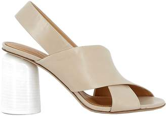 Halmanera Beige Leather Sandals