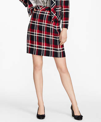 Brooks Brothers Plaid Wool-Blend A-Line Skirt