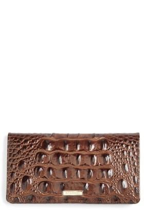 Women's Brahmin Melbourne Simone Croc Embossed Leather Wallet - Brown $90 thestylecure.com