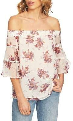 1 STATE 1.STATE Wildflower Off-The-Shoulder Blouse