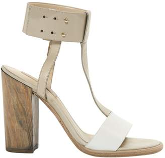 HUGO BOSS Beige Leather Sandals