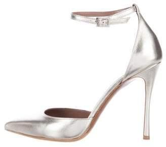 Tabitha Simmons Alhambra Metallic Pointed-Toe Pumps