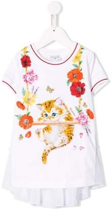 MonnaLisa printed layered T-shirt