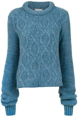 Framed Fluffy knit top
