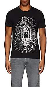Just Cavalli MEN'S SKULL-PRINT COTTON T-SHIRT-BLACK SIZE S