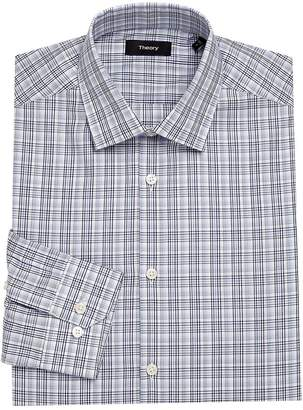 Theory Men's Dover Plaid Dress Shirt