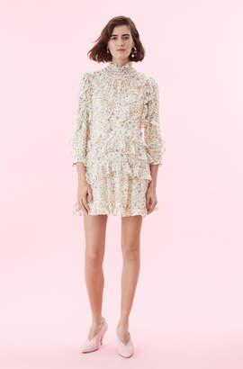 Rebecca Taylor Vivianna Vine Silk Burnout Dress