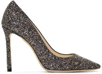 Jimmy Choo Multicolor Glitter Romy 100 Heels