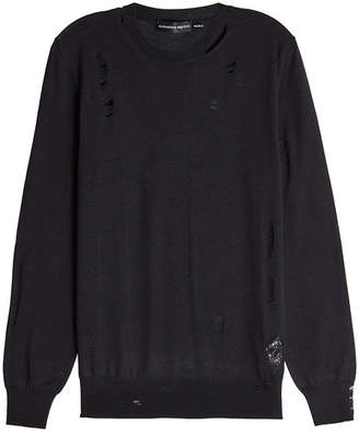 Alexander McQueen Distressed Wool and Silk Pullover