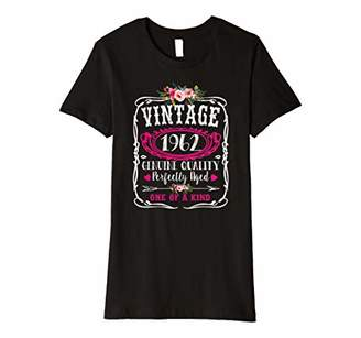 Womens Vintage 1962 Birthday Year Cute Floral Perfectly Aged Gift Premium T-Shirt