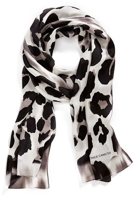 Women's Collection Xiix 'Blur Cheetah' Silk Scarf $48 thestylecure.com