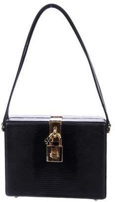 Dolce & Gabbana Embossed Leather Frame Bag
