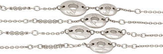 Chopard 18k White Gold Long Chopardissimo Station Necklace